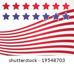 stars and stripes illustration... | Shutterstock . vector #19548703