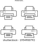 printer icon isolated on white...