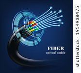 cable or wire with glowing...   Shutterstock .eps vector #1954938475