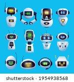 Cartoon Chat Bot And Robots...