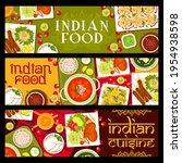 indian restaurant meals and... | Shutterstock .eps vector #1954938598