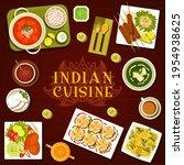 indian cuisine food menu meals... | Shutterstock .eps vector #1954938625