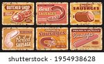 sausages  butcher shop food... | Shutterstock .eps vector #1954938628