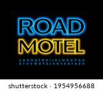 vector bright sign road motel.... | Shutterstock .eps vector #1954956688