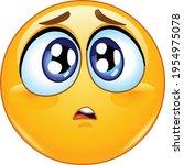 emoji emoticon with a sad or...   Shutterstock .eps vector #1954975078