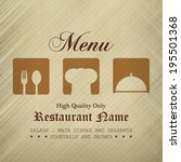 restaurant menu design   menu... | Shutterstock .eps vector #195501368