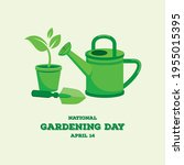 national gardening day vector.... | Shutterstock .eps vector #1955015395