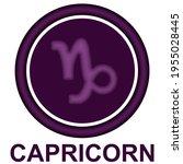 capricorn zodiac sign vector...   Shutterstock .eps vector #1955028445