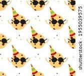 cute cartoon style chocolate... | Shutterstock .eps vector #1955039575