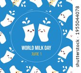 world milk day greeting card ... | Shutterstock .eps vector #1955044078