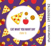 national eat what you want day... | Shutterstock .eps vector #1955050762
