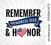 memorial day  remember and... | Shutterstock .eps vector #1955061475