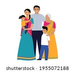 indian family. three... | Shutterstock .eps vector #1955072188