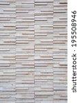 white stone brick wall | Shutterstock . vector #195508946