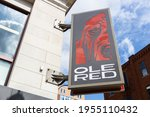 Small photo of NASHVILLE, TN, USA - MARCH 28, 2021: Blake Shelton's Ole Red is the country music singer's club on Broadway Street in downtown Nashville with food, liquor, and multiple levels for guests.