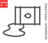 oil spill line icon  spilled... | Shutterstock .eps vector #1955115442