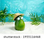 Avocado In Hat And Sunglasses ...