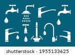 plumbing set of white isolated... | Shutterstock .eps vector #1955133625