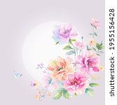 greeting card with flowers  can ...   Shutterstock . vector #1955156428