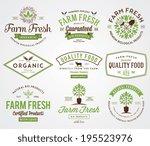 organic farm fresh badges 2 | Shutterstock .eps vector #195523976
