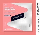 mega sale banner template... | Shutterstock .eps vector #1955240578