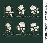vector rose flowers logo design....   Shutterstock .eps vector #1955352868