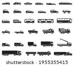 Detailed Icons Of Cars  Buses...