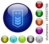 military insignia with three... | Shutterstock .eps vector #1955357788