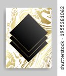 shiny glowing blank black frame....   Shutterstock .eps vector #1955381062