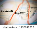 toothill on a geographical map... | Shutterstock . vector #1955392792