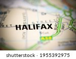 halifax on a geographical map... | Shutterstock . vector #1955392975