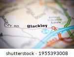 blackley on a geographical map... | Shutterstock . vector #1955393008