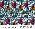 african wax print fabric ...   Shutterstock .eps vector #1955396632