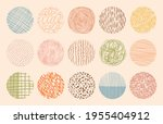 vector colorful circle textures ... | Shutterstock .eps vector #1955404912