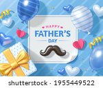 3d happy father's day... | Shutterstock .eps vector #1955449522