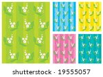 background with flowers and... | Shutterstock .eps vector #19555057