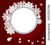 abstract design with snowflakes ... | Shutterstock .eps vector #195555296