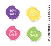 sale sign icon. special offer... | Shutterstock .eps vector #195557192