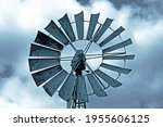Metal Wheel Of Windmill With...