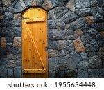 Background With Old Wooden Door ...