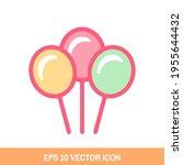 cartoon balloons icon vector...