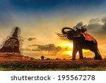 Elephants And Stupa At...
