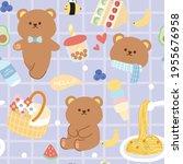 pastel concept.seamless pattern ... | Shutterstock .eps vector #1955676958