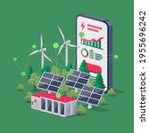 smartphone mobile energy... | Shutterstock .eps vector #1955696242