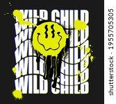 urban neon graffiti slogan... | Shutterstock .eps vector #1955705305