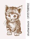 sepia vector illustration of... | Shutterstock .eps vector #1955708902