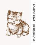 sepia vector illustration of... | Shutterstock .eps vector #1955708905