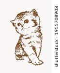 sepia vector illustration of... | Shutterstock .eps vector #1955708908