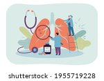 tiny doctors diagnosing giant... | Shutterstock .eps vector #1955719228