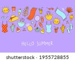border background with cute... | Shutterstock .eps vector #1955728855